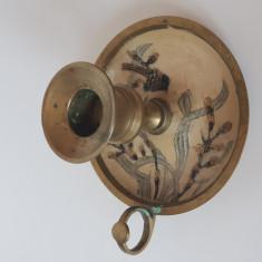 Sfesnic de bronz cu pictura manuala