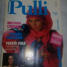 Revista International PULLI vintage Impletituri/modele Plovere,Transport GRATUIT