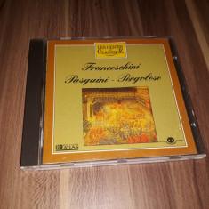 CD FRANCESCHINI/PASQUINI/PERGOLESE COLECTIA LES GENIES CLASSIQUE  EDITIONS ATLAS