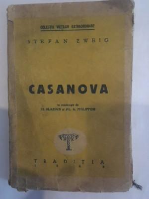 Stefan Zweig, Casanova foto