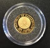 Kazahstan  100 tenge  2004, 1.24 gr. Aur .999 - PROOF, Asia