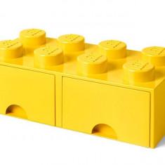 Cutie depozitare LEGO 2x4 cu sertare - Galben (40061732)
