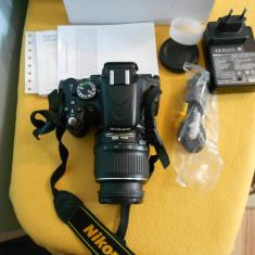 Nikon D5100 +obiectiv 18-55,stare f buna ,vine la cutie cu accesoriile din cutie