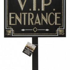 Placuta decorativa cu sclipici si cu suport pentru petreceri, Intrare V.I.P., ca 33 x 72,5 cm, Radar 190195