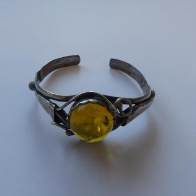 Bratara din argint cu chihlimbar (4037) foto