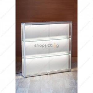 Vitrina din sticla, cu fixare pe perete, 1000x150x1000 mm (VI-CB3-V)