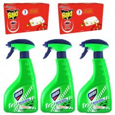 3 x Aroxol lichid insecticid impotriva insectelor 3 x 400ml + 2x capcane gandaci