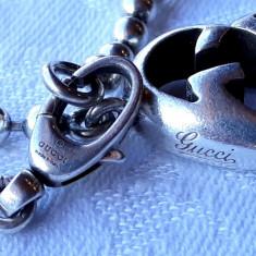 BRATARA argint GUCCI brand de LUX de TOP ITALIA splendida ELEGANTA de efect