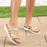 Papuci dama aurii Qalia