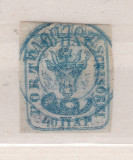1859 - Cap de bour - 40 parale - emisiunea a II-a - stampilat