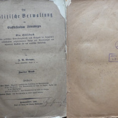 Grimm , Administratia politica din Transilvania , Hermannstadt , Sibiu , 1856