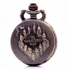 Mini Ceas De Buzunar - HARRY POTTER  - The MARAUDERS MAP - Bronz