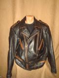 Geaca Moto/Motor/Rock/Rocker/Motociclist/Barbateasca/Piele naturala/Vintage, XXL