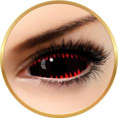 Fashion Lentilles Jaws Red - lentile de contact pentru Halloween anuale - 365 purtari (2 lentile/cutie)