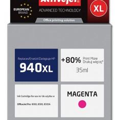 Cartus compatibil HP-940XL magenta pentru HP C4908AE, Premium Activejet, Garantie 5 ani