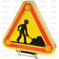 Triunghi LED cu avertizare lucrari trafic