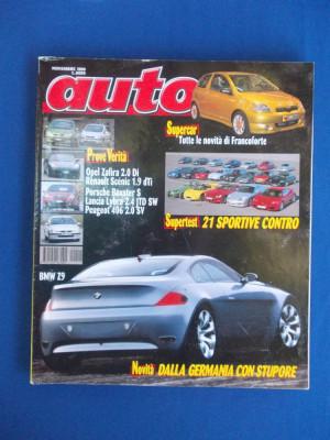 REVISTA AUTO ( IN ITALIANA ) , NR. 11 ( NOIEMBRIE ) / 1999 foto