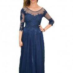 Rochie de seara Briella din dantela,nuanat de bleumarin