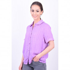 Bluza Tip Camasa Pieces Alex Lavander, M, Mov