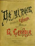 Partitura Muzicala Romaneasca George Cavadia Da' mi pace C. Scrob Secol XIX