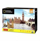 Cumpara ieftin Puzzle 3D + Brosura Big Ben, 117 piese, CubicFun