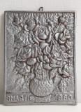 Placa din aluminiu 8 MARTIE 1980 LUGOJ