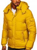 Cumpara ieftin Geacă de iarnă matlasată galbenă Bolf 1161