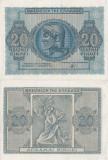 1944 (9 XI), 20 drachmai (P-323) - Grecia - stare UNC