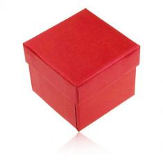 Cutiuță de cadou pentru inel sau cercei, culoare roșu-perlat