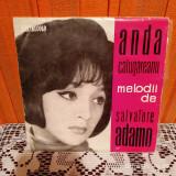 """-Y-  Anda Călugăreanu Cîntă Melodii De Salvatore Adamo  VINIL 7 """""""