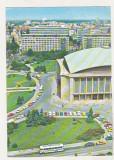 Bnk cp Bucuresti - Piata si Sala Palatului RSR - circulata - marca fixa, Printata