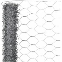 Nature Plasă din sârmă, 0,5 x 2,5 m, oțel galvanizat, 25 mm, hexagonal