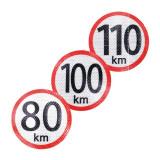 Autocolant reflectorizant limita viteza 20 km, diametru 150mm Kft Auto