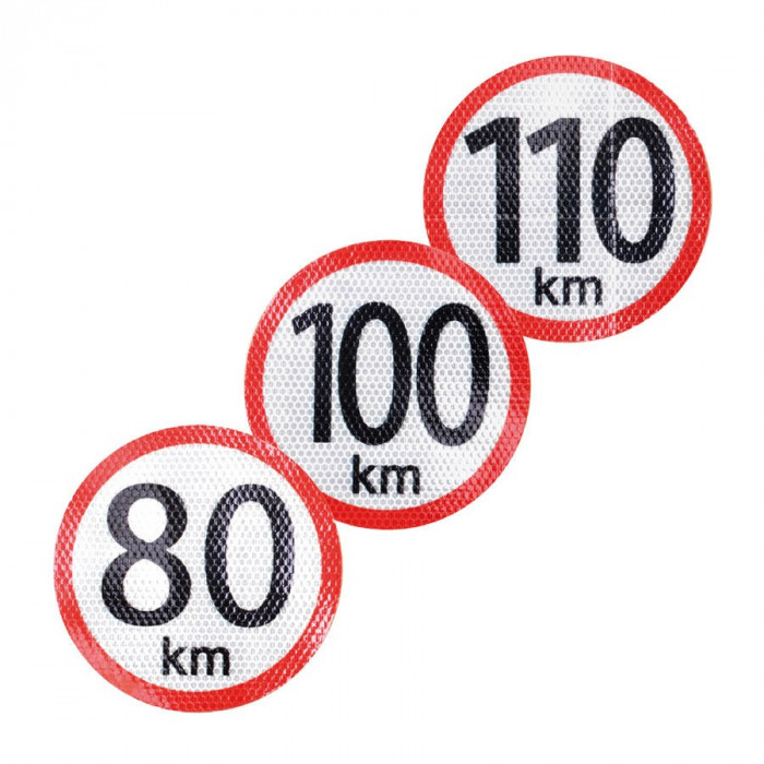 Autocolant reflectorizant limita viteza 120km, diametru 150mm Kft Auto