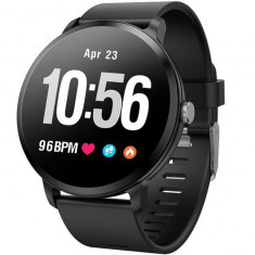 Bratara Fitness iUni V11, Display 1.3 inch Full Color OLED, Pedometru, Monitorizare Puls, Notificari, Negru