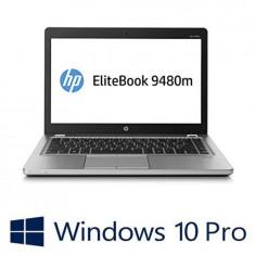 Laptop refurbished HP EliteBook Folio 9480m, Core i5 4310u, 180GB SSD, Win 10 Pro, Intel Core i5, 4 GB