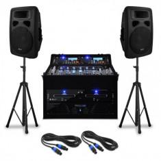 "Electronic-Star DJ PA Set de boxe ""Urban Trip-Hop Beats"" pentru 250 de persoane 1000W USB"