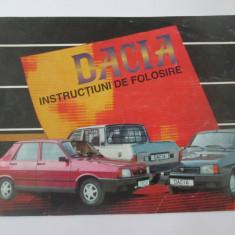 Carticica tehnica Dacia,instructiuni de folosire(64 pagini/200x150 mm) anii 90