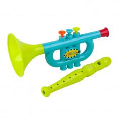 Trompeta de jucarie Baby Music, 2 ani+, Multicolor