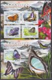 Cumpara ieftin DB1 Sao Tome Fauna Asiatica Fluturi MS + SS MNH, Nestampilat