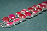 Bratara marcata 925 Argint cu pietre naturale fatetate Rubine lungime 19-20cm