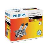 Bec auto cu halogen pentru far Philips Vision +30% H4 12V 60/55W P43t-38 , 2 buc. Kft Auto