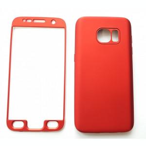 Husa Samsung Galaxy S7 Flippy Full Silicone 360 Rosu
