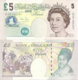 Bancnota Marea Britanie 5 Pounds 1990 UNC