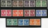 Cumpara ieftin 1930, ROMANIA , CAROL I ,FILIGRAN PTT NEDANTELATE - PERECHI - NESTAMPILATE