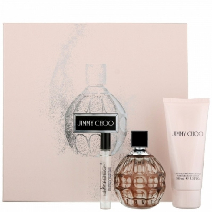 Seturi Femei, Jimmy Choo Jimmy Choo Apa de Parfum 100 ml + Lotiune de corp 100 ml + Apa de Parfum 7.5 ml, 100 + 100 + 7.5ml