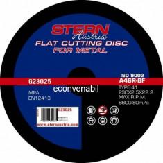 Disc abraziv pentru polizor unghiular Stern G23025 230x2.5mm