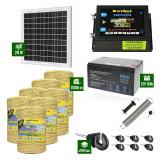 Pachet Gard electric 6,6j putere cu Panou Solar si 7000m de fir 160Kg