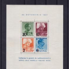 ROMANIA 1937  LP  122   INALTAREA  IN GRAD A MARELUI  VOIEVOD MIHAI  BLOC MNH