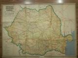 Hartă automobilistica Romania, RSR, comunim, epoca de aur